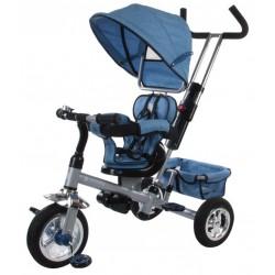 Rowerek trójkołowy z obr. siedzeniem - melanż niebieski