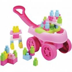 ECOIFFIER Wózek z Klockami Różowy