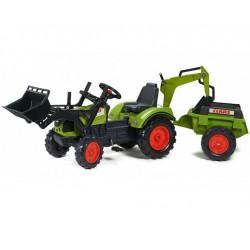 FALK Traktor CLASS Zielony Przyczepa Koparka lem