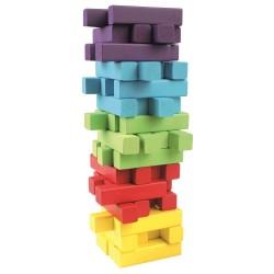 Kolorowa wieża do grania i układania