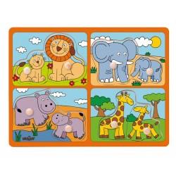 Układanka safari - zwierzęta z małymi