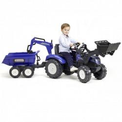 FALK Traktor NEW HOLLAND z Przyczepą i Łyzką