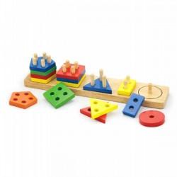 VIGA Klocki z sorterem kształtów - figury geometry