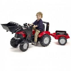 FALK Traktor CASE IH PUMA 240CVX z Przyczepą i Ład