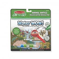 Malowanka wodna - zestaw DeLuxe z lupą Świat zwierząt