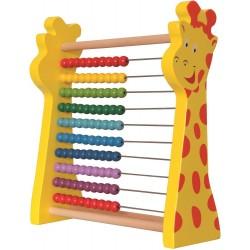 Liczydło drewniane z żyrafą