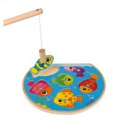Janod – Puzzle z magnesami Szybkie rybki z wędką