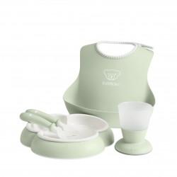 BABYBJORN - Zestaw obiadowy - Powder Green