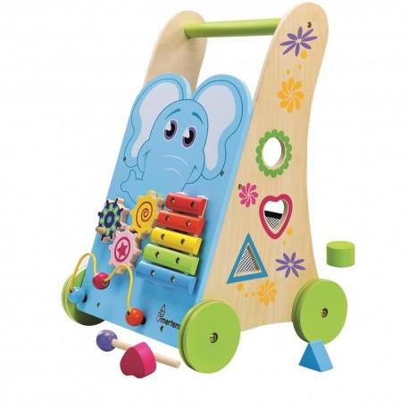 Pchacz dla dziecka drewniany Słonik