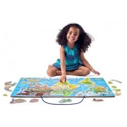 Mapa świata tablica edukacyjna 2w1