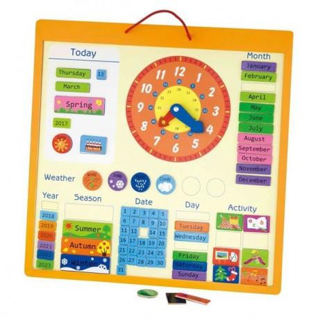 VIGA Drewniany Kalendarz Magnetyczny