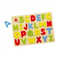 VIGA Drewniane Puzzle Edukacyjne Literki ABC