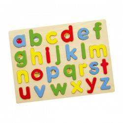 VIGA Układanka Drewniane Literki Puzzle Edukacyjne