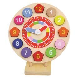 Bino Zegar drewniany dla dziecka