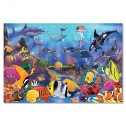 Puzzle podłogowe podwodny świat 48el.