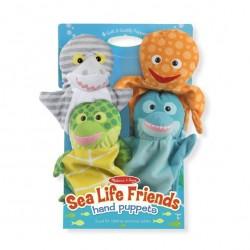 Pacynki na rękę morscy przyjaciele - 4 szt.