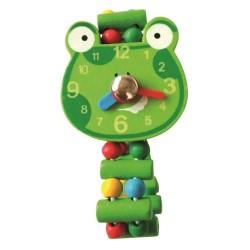 Zegarek drewniany z żabką