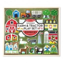 Drewniana Farma do układania - duży zestaw