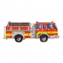 Podłogowe puzzle – wóz strażacki – ogromne elementy