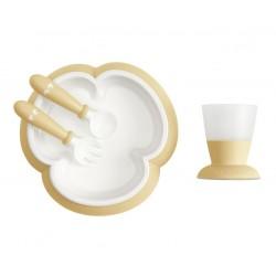 BABYBJORN - zestaw do karmienia - Powder Yellow