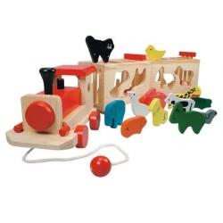 Pociąg - duży sorter ze zwierzętami