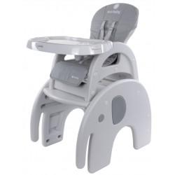 Krzesełko do karmienia 2w1 słonik szary