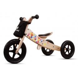 Rowerek biegowy drewniany 2w1 Twist Cubic Black Edition
