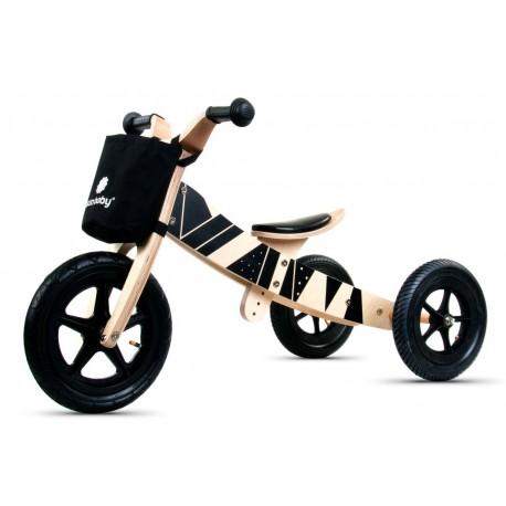 Rowerek biegowy drewniany 2w1 Twist Samoa black on Black Edition