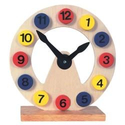 Bino Zegar drewniany do nauki godzin