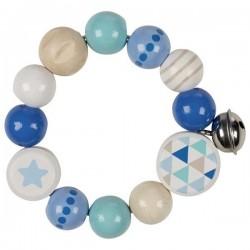 Grzechotka pierścień elastyczny niebieska gwiazdka