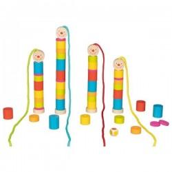 Goki - gra z gąsienicami na sznurkach