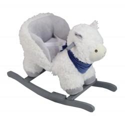 Bujak lama z fotelikiem na biegunach