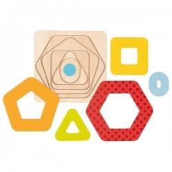 Puzzle geometryczne warstwowe