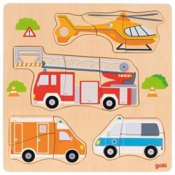 Układanka Goki pojazdy ratunkowe