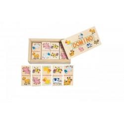 Mini Domino w pudełko - Zwierzątka