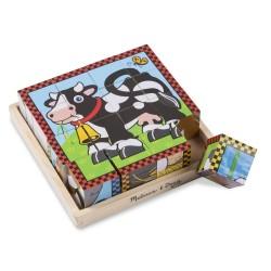 Puzzle sześcienne kostki Wesoła wieś
