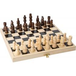 Drewniane Szachy gra logiczna dla dziecka