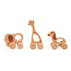 Zwierzątka na kołach zabawka do rączki
