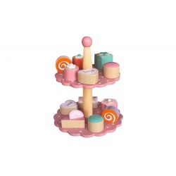 Patera z ciastkami różowa