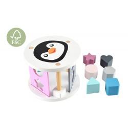 Sorter pingwin drewniany dla dziecka
