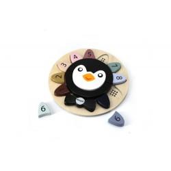 Układanka do liczenia z pingwinkiem