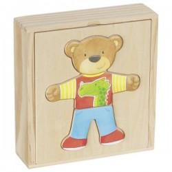 Miś do ubierania puzzle w pudełku Goki