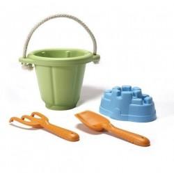 Green Toys zestaw do piasku Zielony