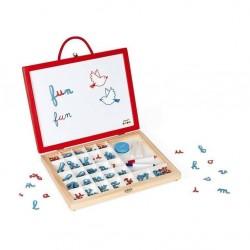 Janod - Tablica z magnesami w walizce 4 w 1