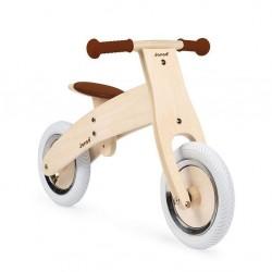 Janod - Drewniany rowerek biegowy z naklejkami do personalizacji Bikloon Nature 3+