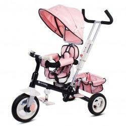 Super Trike Plus z obr. siedzeniem - różowy