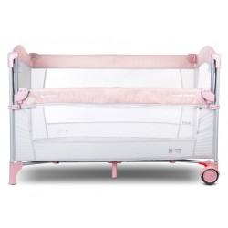 Łóżeczko turystyczne - dostawka do łóżka - różowe