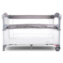 Łóżeczko turystyczne - dostawka do łóżka - szare