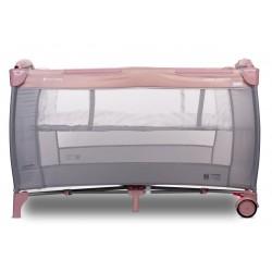 Łóżeczko turystyczne z pełnym wyposażeniem - różowe