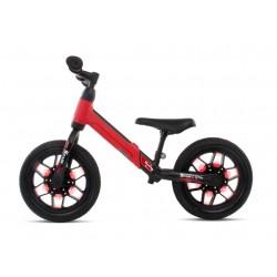 Rowerek biegowy SPARK czerwony z kołami LED